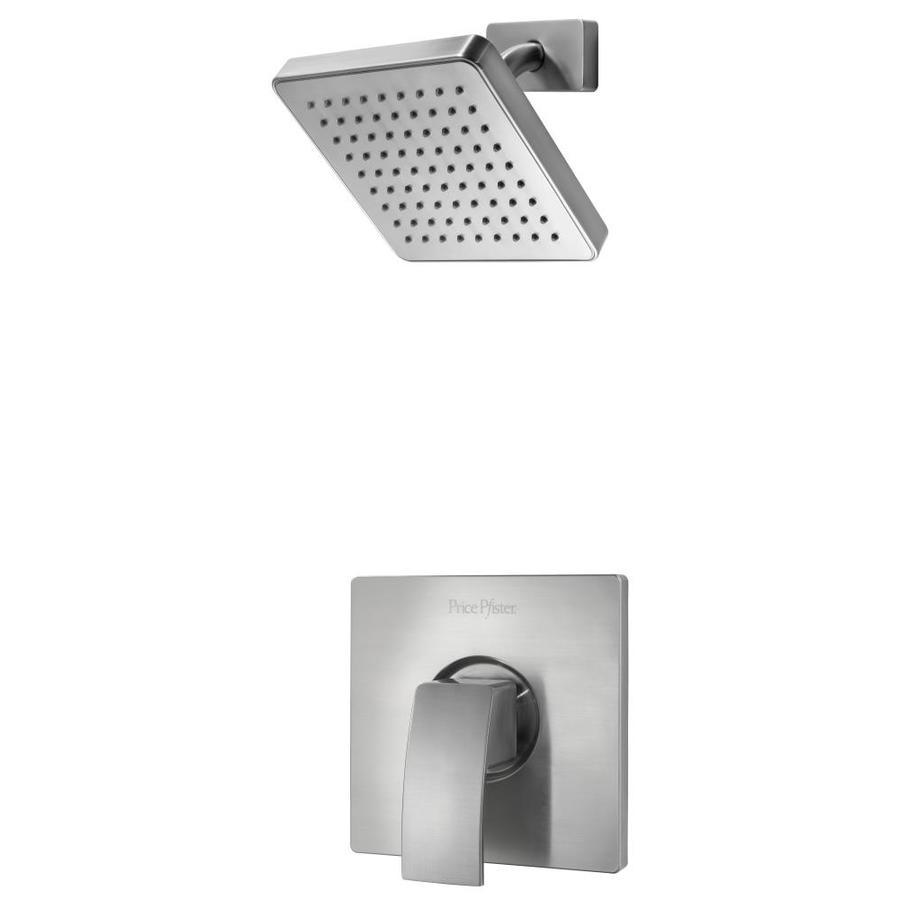 Pfister Kenzo Brushed Nickel 1-Handle Shower Faucet Trim Kit with Rain Showerhead