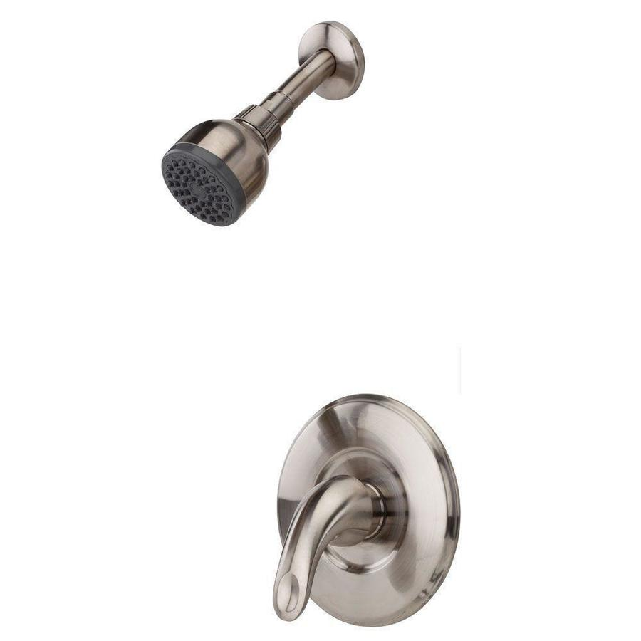 Pfister Serrano Brushed Nickel 1-Handle Shower Faucet Trim Kit with Single Function Showerhead
