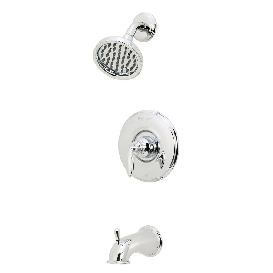 Pfister Avalon Polished Chrome 1-Handle WaterSense Bathtub and Shower Faucet Trim Kit with Rain Showerhead