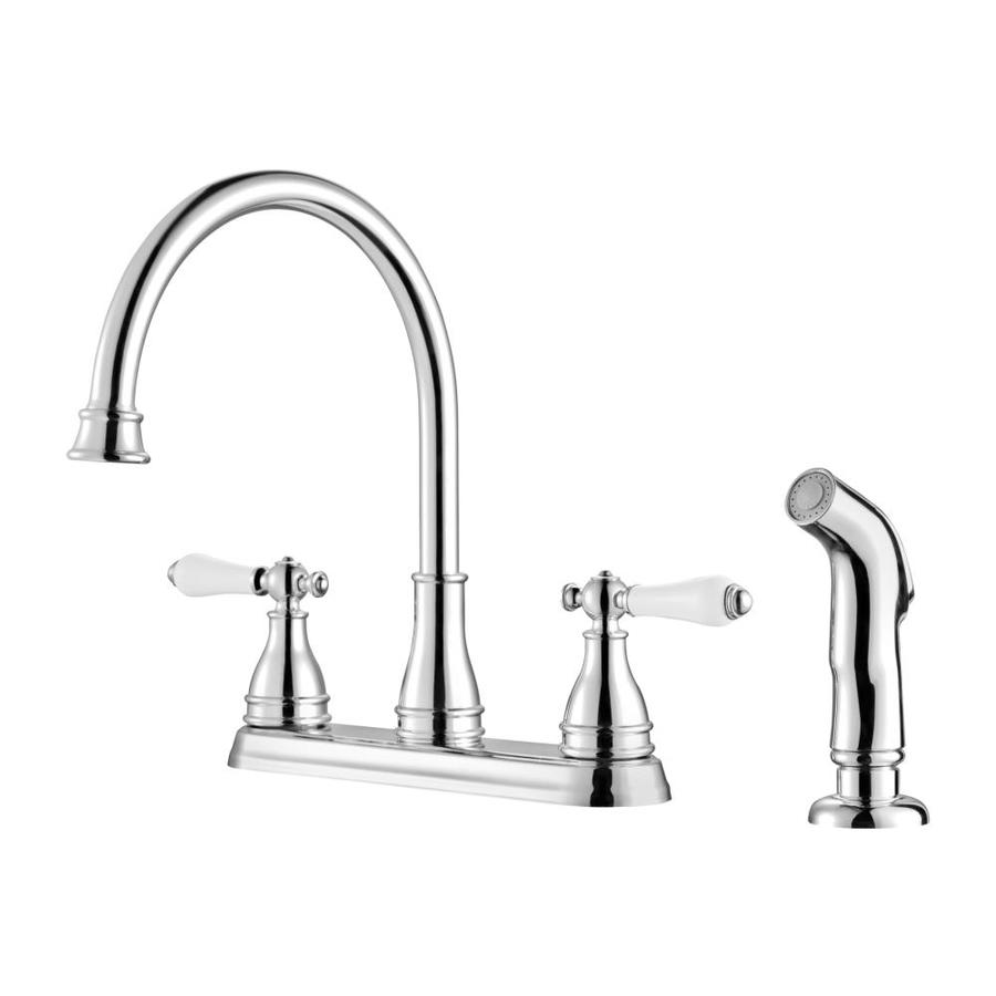 Pfister Sonterra Polished Chrome 2-Handle High-Arc Kitchen Faucet with Side Spray