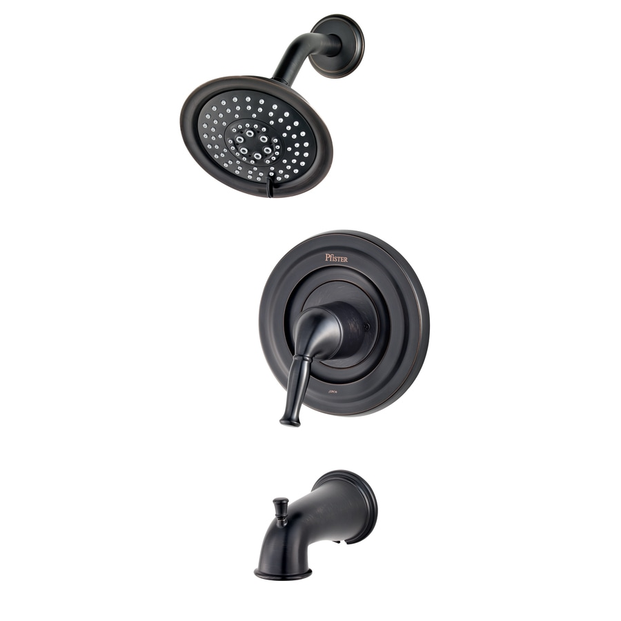 Pfister Universal Tuscan Bronze 1-Handle Bathtub and Shower Faucet Trim Kit with Multi-Function Showerhead