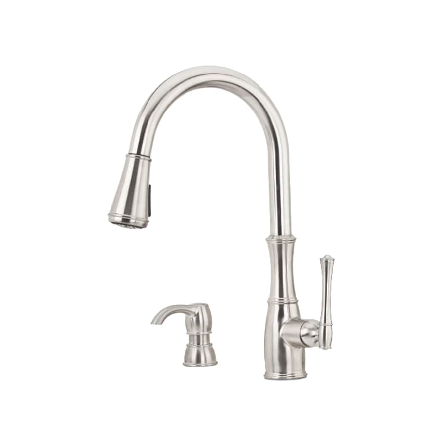 Pfister Wheaton Stainless Steel 1-Handle Pull-Down Kitchen Faucet