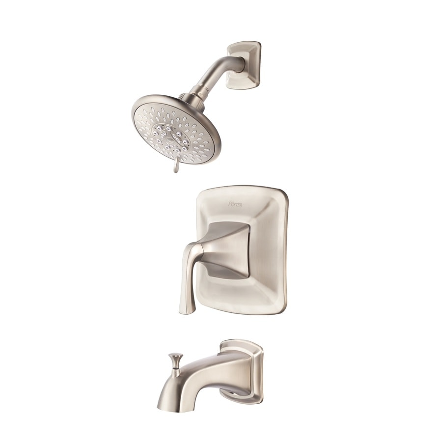 Shop Pfister Selia Brushed Nickel 1 Handle Watersense Bathtub And Shower Faucet With Multi