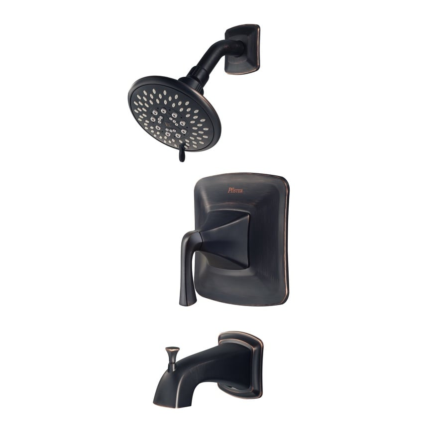 Pfister Selia Tuscan Bronze 1-Handle WaterSense Bathtub and Shower Faucet with Multi-Function Showerhead