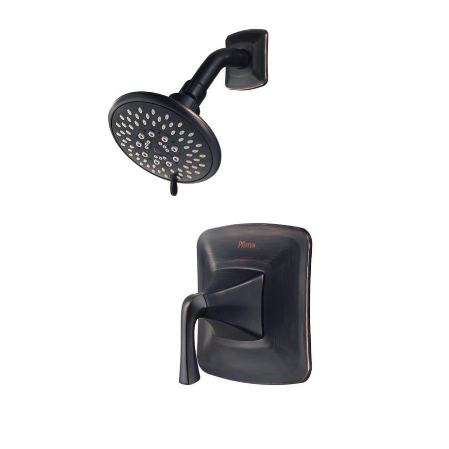 Pfister Selia Tuscan Bronze 1-Handle WaterSense Shower Faucet with Multi-Function Showerhead