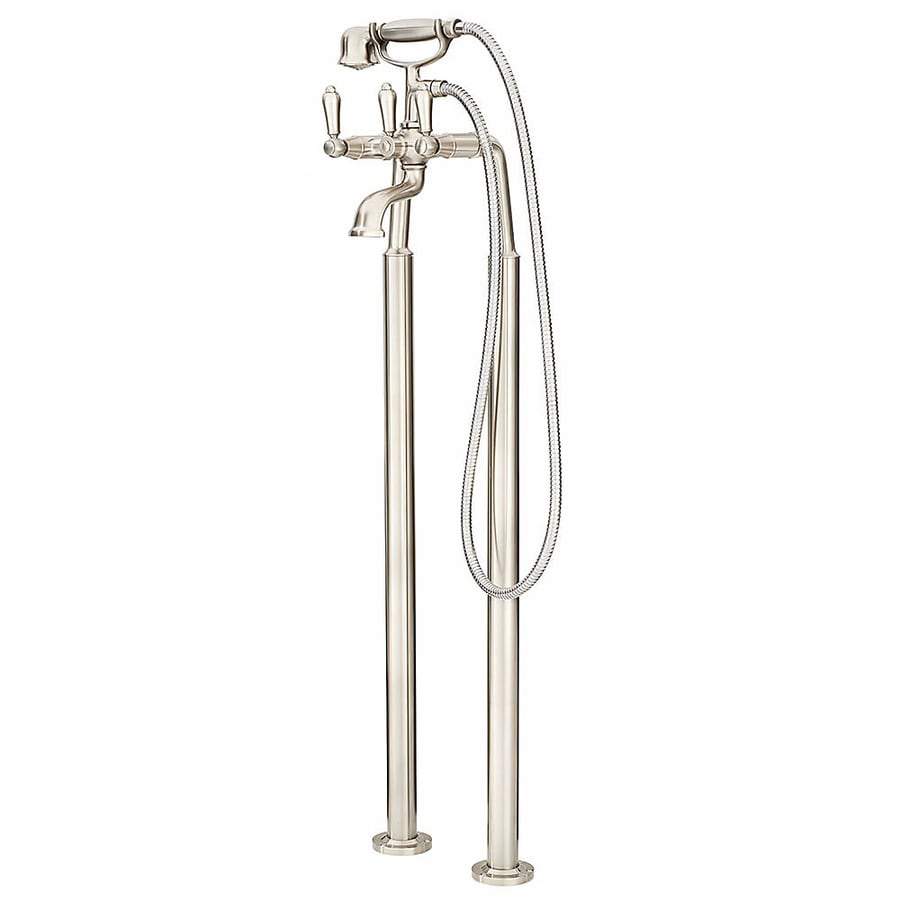 Pfister Traditional Brushed Nickel 2-Handle Fixed Freestanding Bathtub Faucet