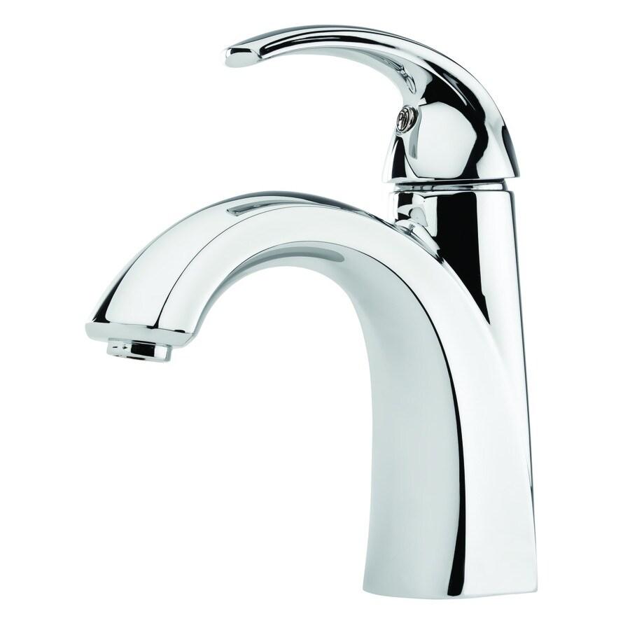 Pfister Selia Polished Chrome 1-Handle Single Hole WaterSense Bathroom Faucet (Drain Included)