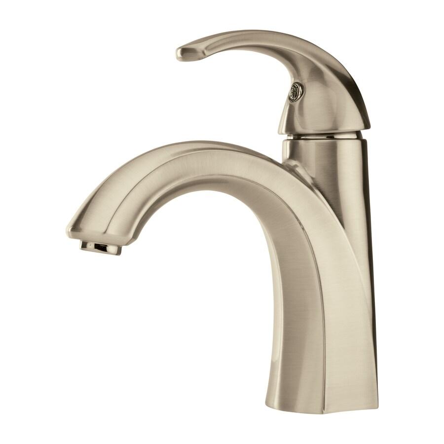 Pfister Selia Brushed Nickel 1-Handle Single Hole WaterSense Bathroom Faucet (Drain Included)