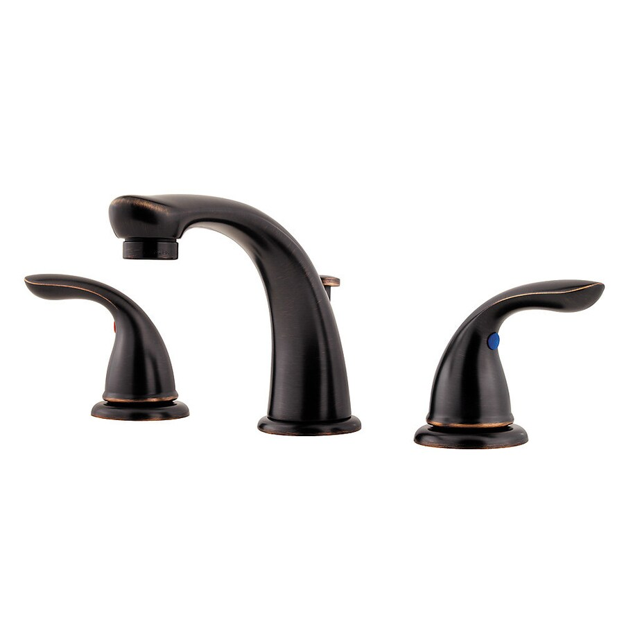 Pfister Pfirst Tuscan Bronze 2-Handle Widespread WaterSense Bathroom Faucet (Drain Included)