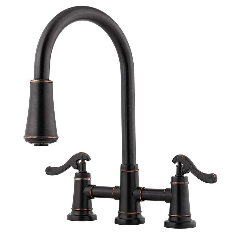 Pfister Ashfield Tuscan Bronze 2-Handle Pull-Down Kitchen Faucet