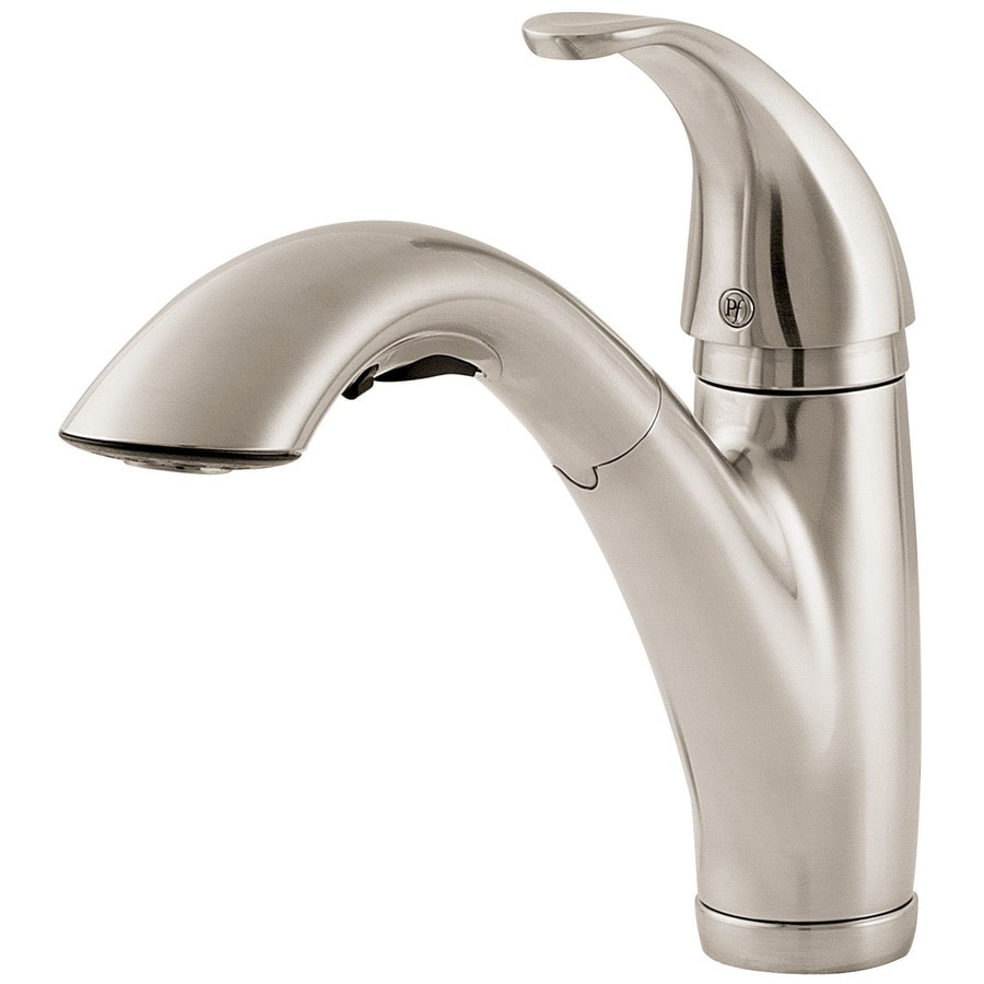 Shop Pfister Parisa Stainless Steel 1 Handle Pull Out Kitchen Faucet At Lowes Com