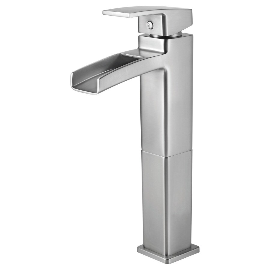 Pfister Kenzo Brushed Nickel 1-Handle Single Hole/4-in Centerset WaterSense Bathroom Faucet