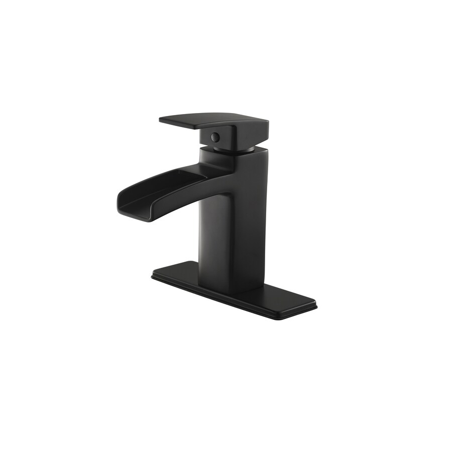 Pfister Kenzo Black 1-Handle 4-in Centerset WaterSense Bathroom Faucet (Drain Included)