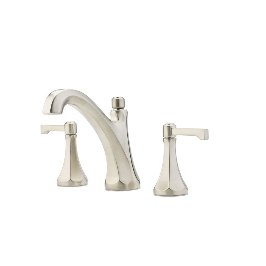 Pfister Arterra Brushed Nickel 2-Handle Widespread WaterSense Bathroom Faucet (Drain Included)
