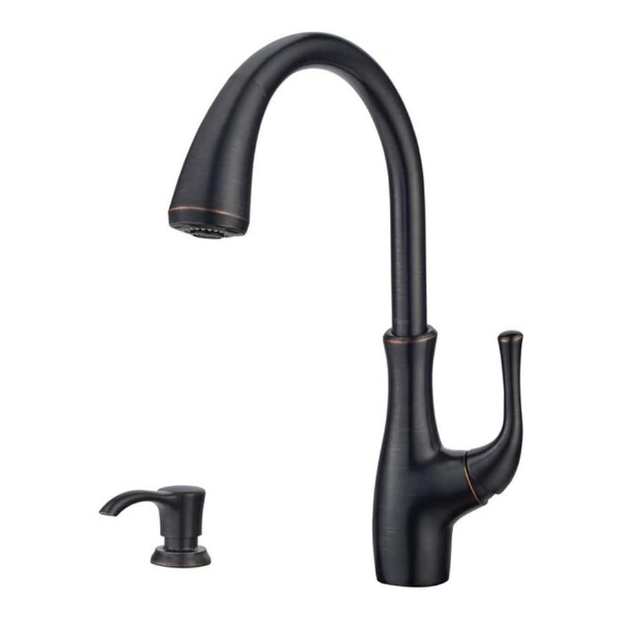 Pfister Vosa Tuscan Bronze 1-Handle Pull-Down Sink/Counter Mount Traditional Kitchen Faucet