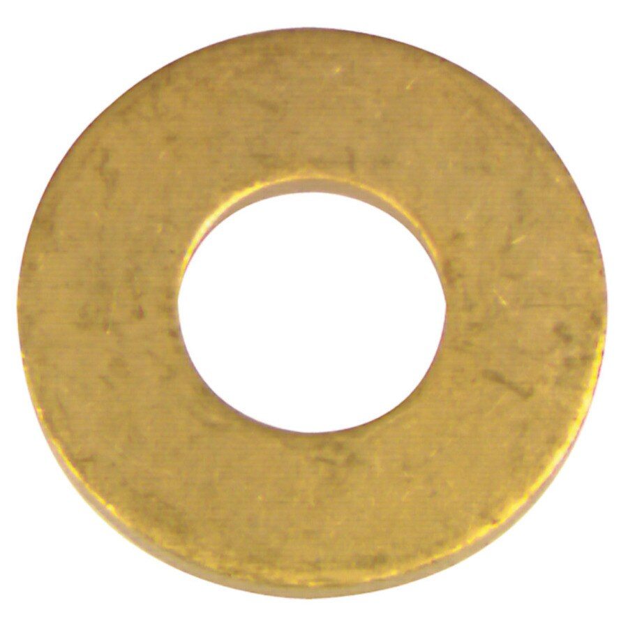 Blue Hawk 12-Count #6 x 5/16-in Brass Standard (SAE) Flat Washers