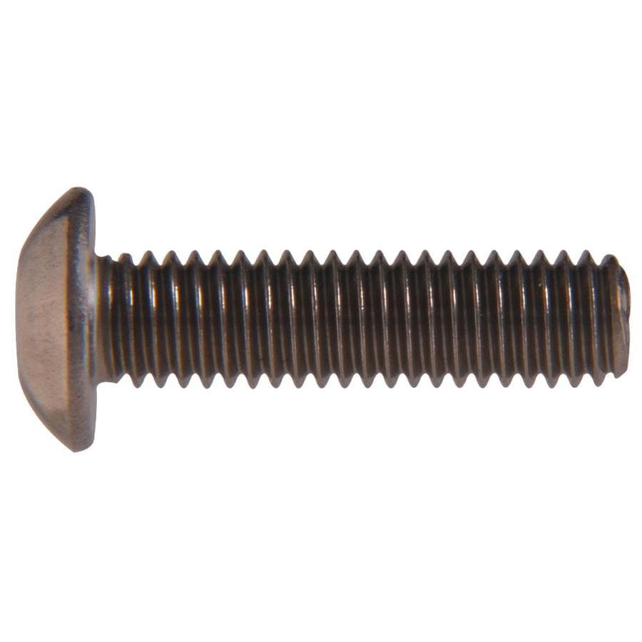 The Hillman Group 2-Count 3/8-in to 16 x 1.25-in Button-Head Plain Steel Allen-Drive Socket Cap Screws