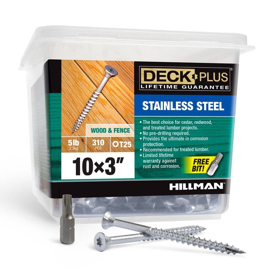 Deck Plus 5-lb Box #10 x 3-in Flat-Head Stainless Steel Star-Drive Deck Screws