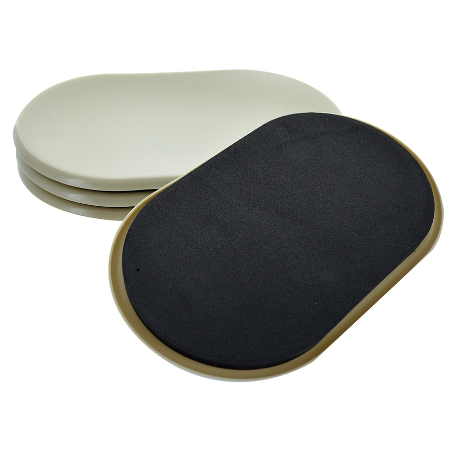 The Hillman Group 4-Pack 5.75 x 9.5-in Oval Reusable Plastic Carpet Sliders