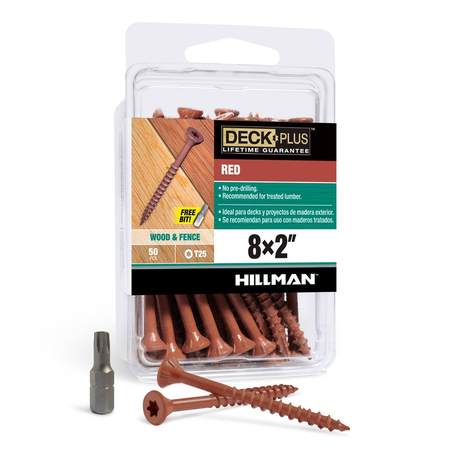 The Hillman Group 50-Count #8 x 2-in Countersinking-Head Red Star-Drive Deck Screws