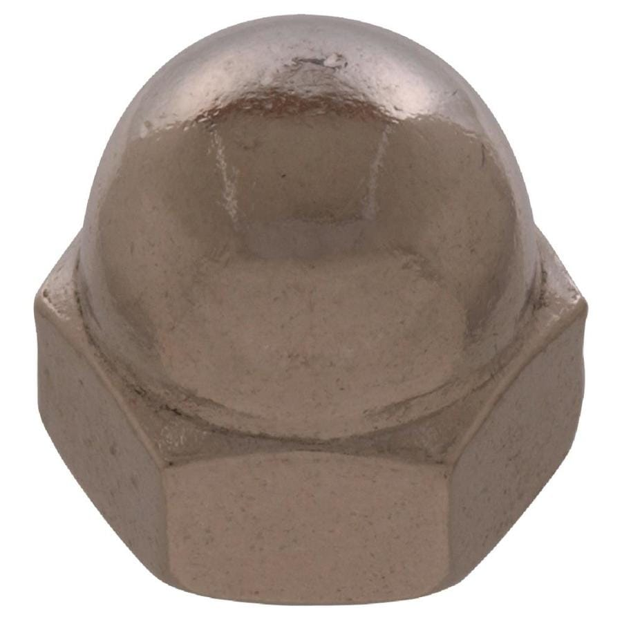 The Hillman Group 3-Count 3/8-in Chrome Standard (SAE) Cap Nuts