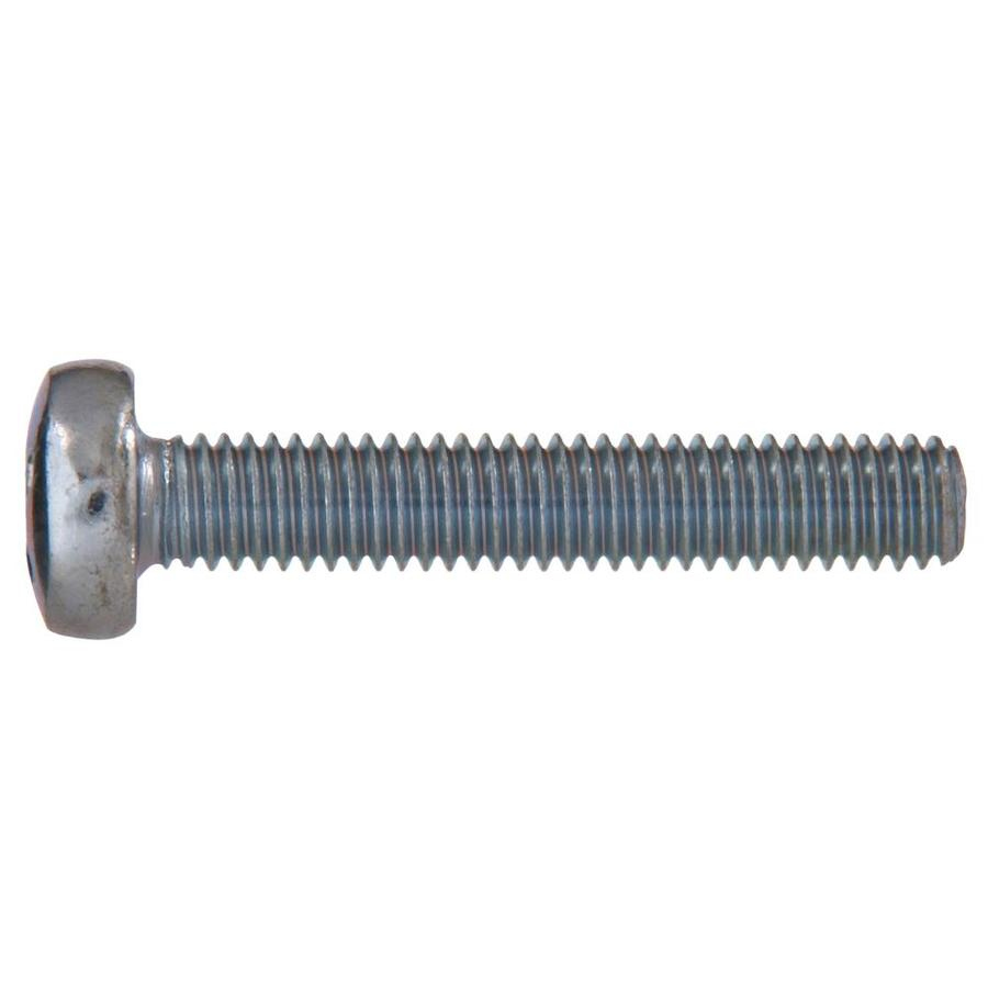 The Hillman Group 12-Count 4mm to 0.7 x 6mm Pan-Head Zinc-Plated Metric Machine Screws
