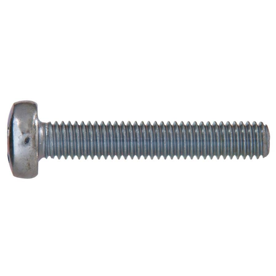 The Hillman Group 4-Count 8mm to 1.25 x 50mm Pan-Head Zinc-Plated Metric Machine Screws