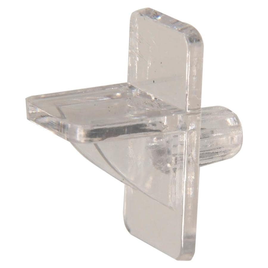 The Hillman Group 8-Pack 0.25-in Clear Square Shelving Hardware