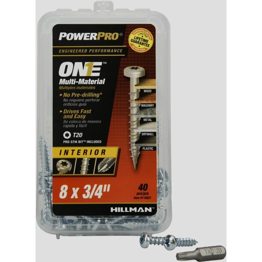 Power Pro 116902 Multi-Material Screws Bronze 79 Piece