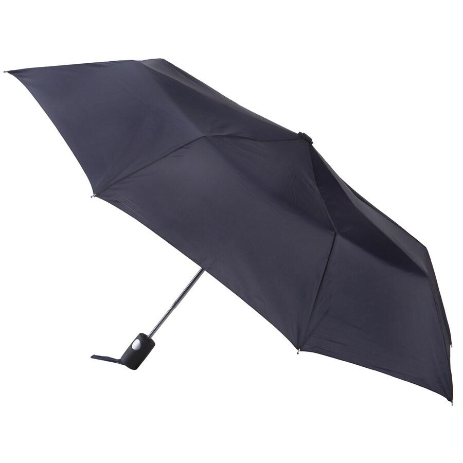 totes 11.25-in Black Automatic Compact Umbrella