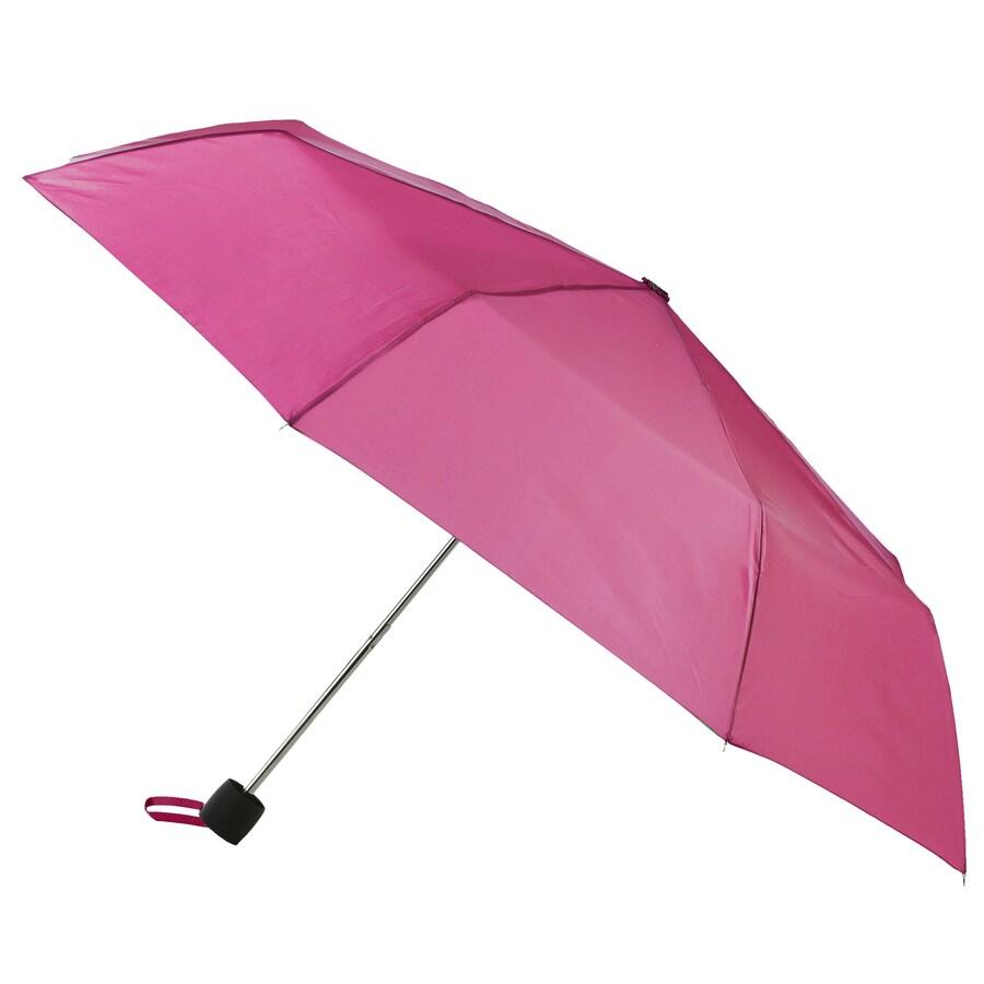 totes 9.5-in Pink Manual Compact Umbrella