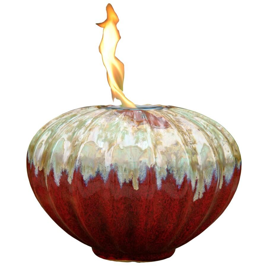 allen + roth Prometheus 9.06-in Redstone Ceramic Fire Pot