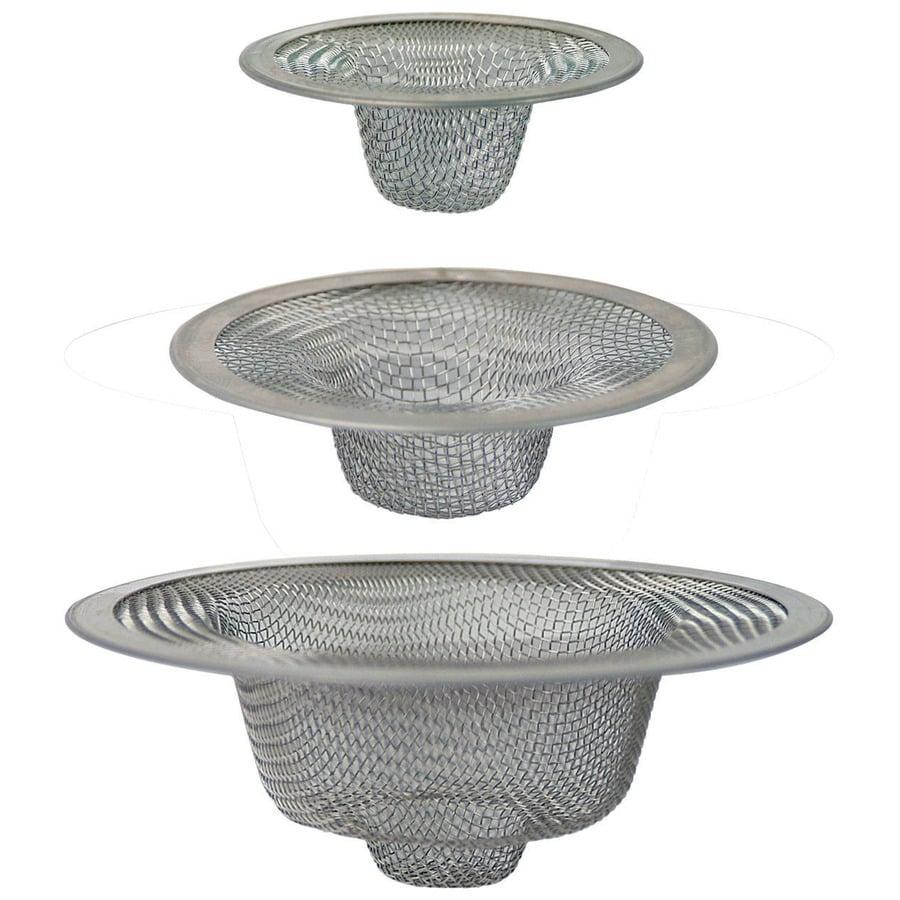 BrassCraft 3-Pack 2-in Stainless Steel Stainless Steel Kitchen Sink Strainer Basket