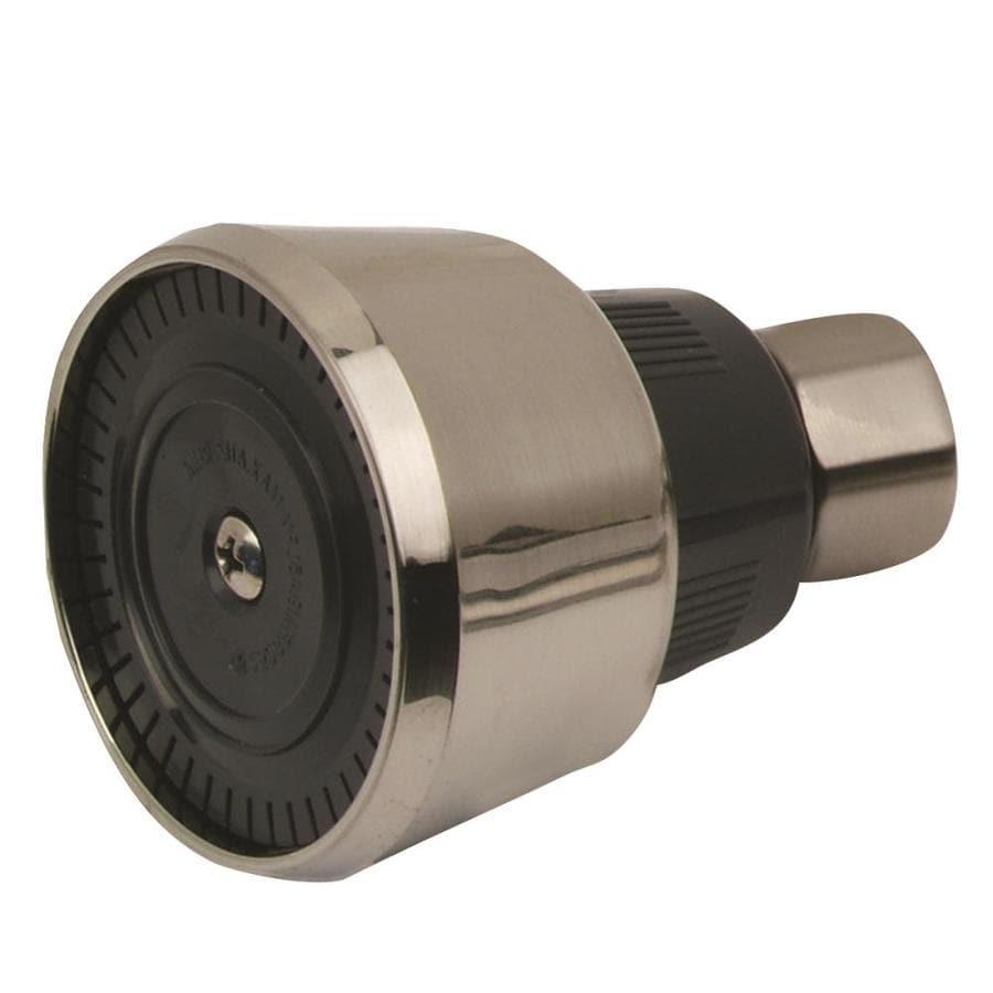BrassCraft MIXET 2.375-in 2.0-GPM (7.6-LPM) Pvd Satin Nickel 1-Spray WaterSense Showerhead