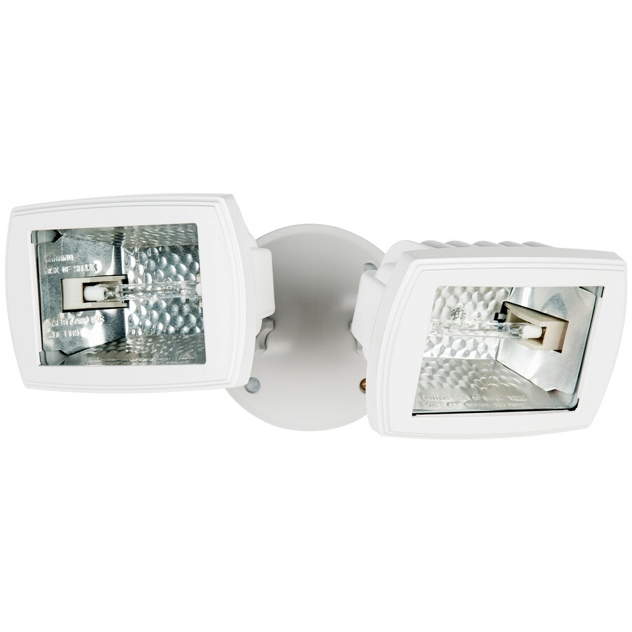 Utilitech 5.5-in 2-Head Halogen White Switch-Controlled Flood Light