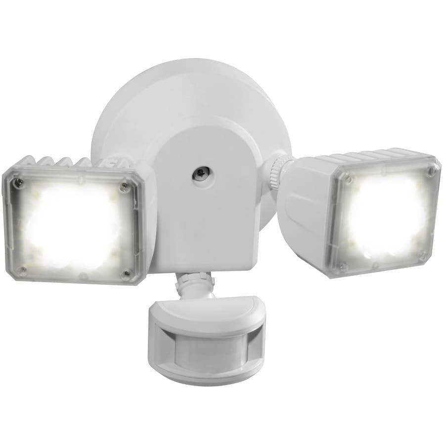 Utilitech 180-Degree 2-Head LED Motion-Activated Flood Light