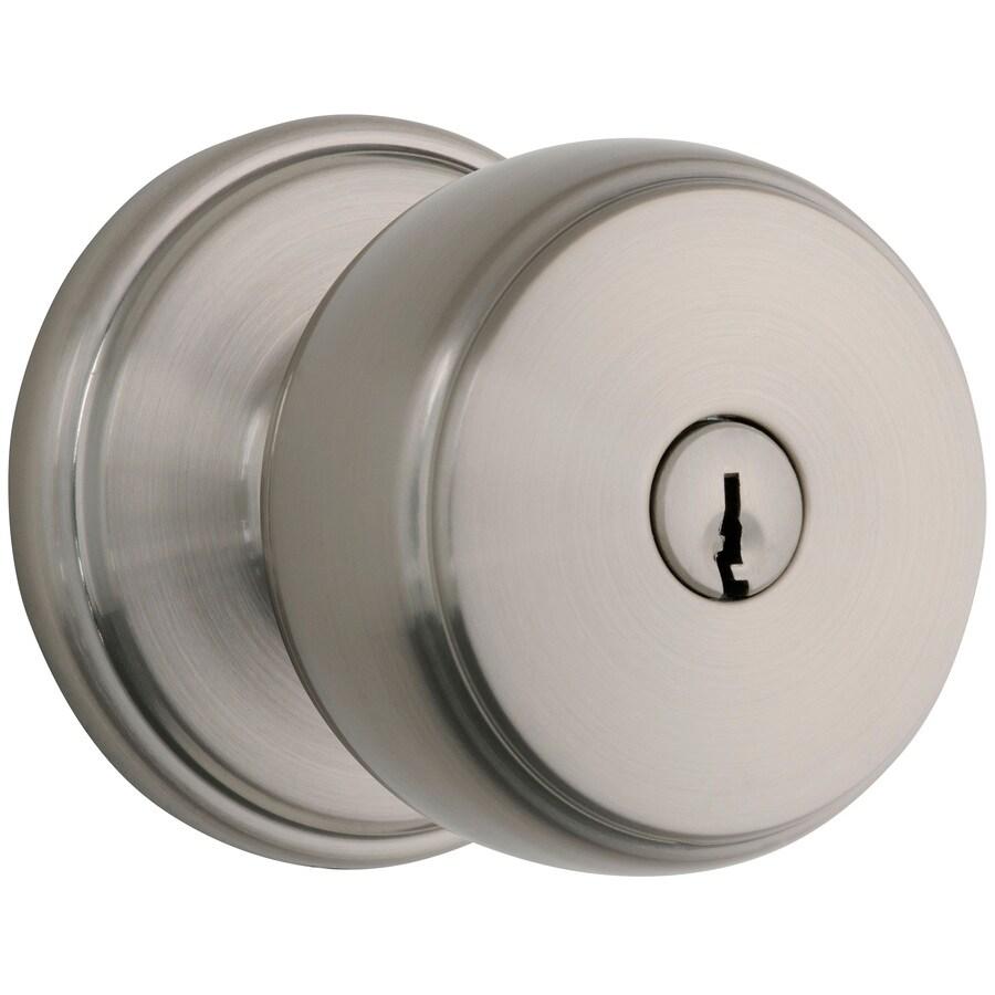 Brink's Home Security Classics Satin Nickel Round Keyed Entry Door Knob