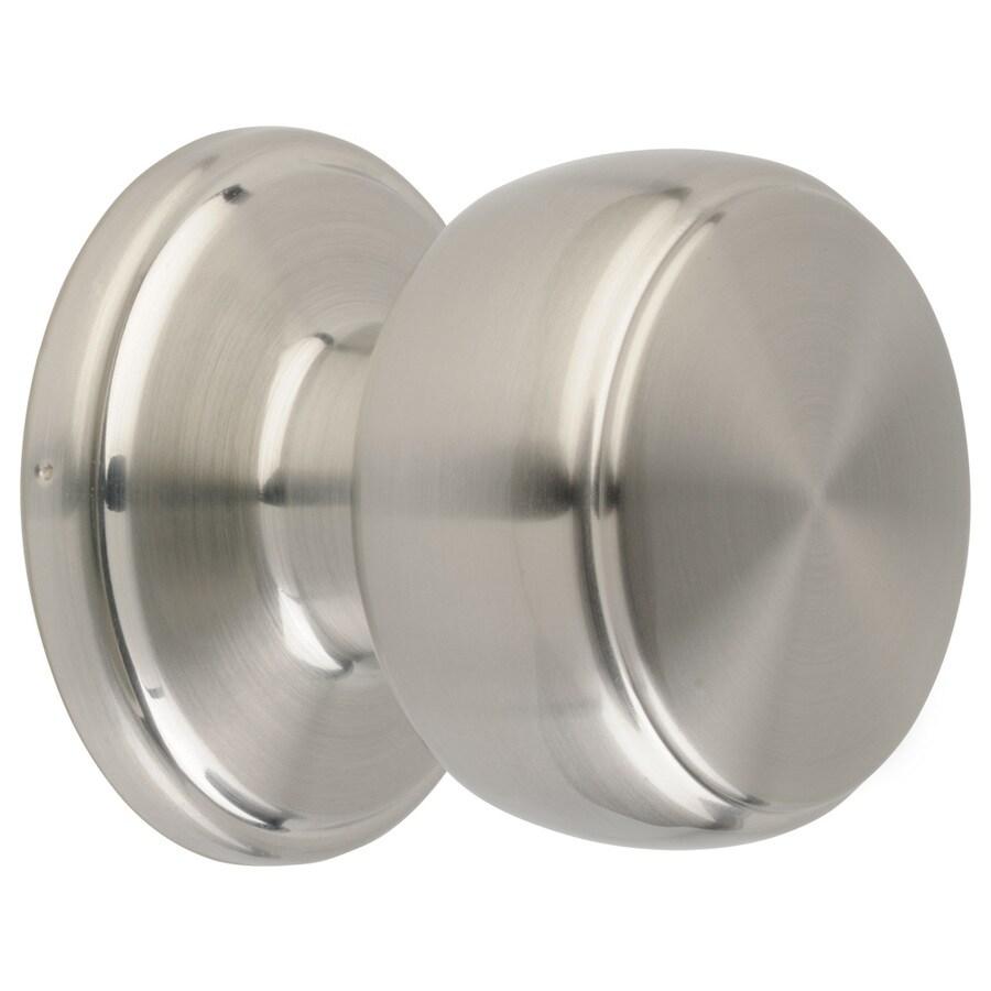 Brink's Home Security Classics Satin Nickel Round Passage Door Knob