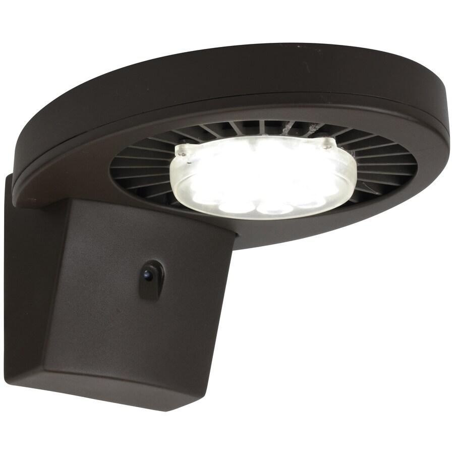 Brink's Home Security 35.5-Watt Brown LED Dusk-to-Dawn Flood Light