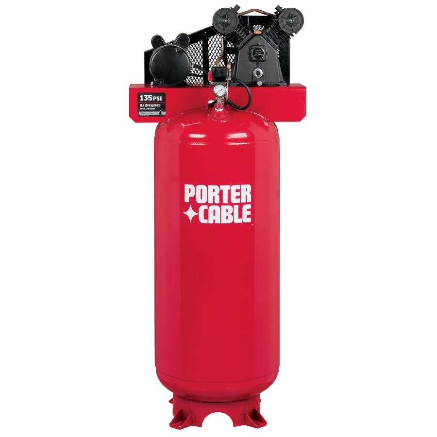 PORTER-CABLE 3-HP 60-Gallon 135-PSI 240-Volt Vertical Electric Air Compressor