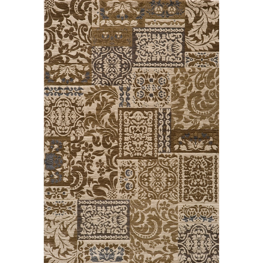 Momeni Fulton Rectangular Cream Transitional Woven Area Rug (Common: 5-ft x 8-ft; Actual: 5.25-ft x 7.5-ft)