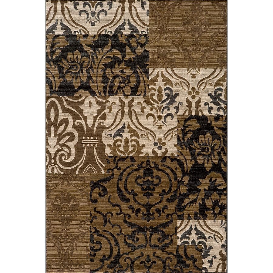 Momeni Bond Ivory Rectangular Indoor Woven Area Rug (Common: 5 x 8; Actual: 63-in W x 90-in L)