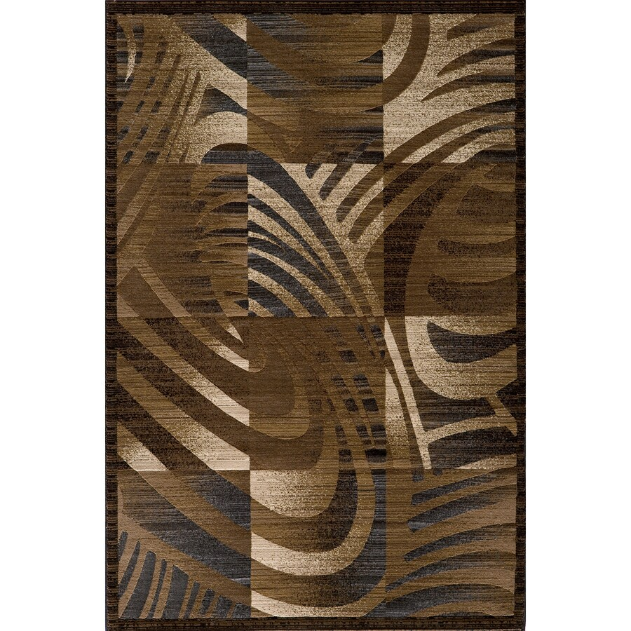 Momeni Worth Rectangular Brown Geometric Woven Area Rug (Common: 5-ft x 8-ft; Actual: 5.25-ft x 7.5-ft)
