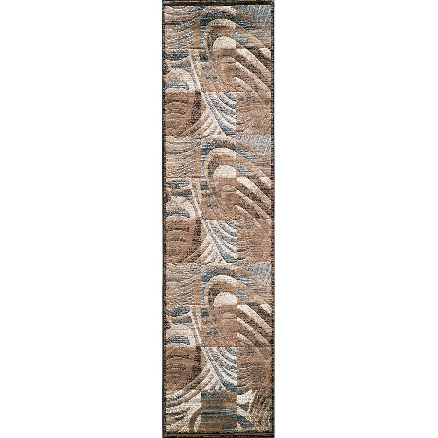 Momeni Worth Brown Rectangular Indoor Woven Runner (Common: 2 x 7; Actual: 27-in W x 90-in L)