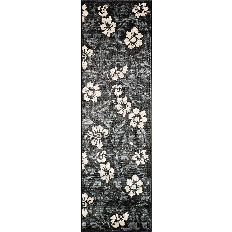 Momeni Jerome Black Woven Runner (Common: 2-ft x 7-ft; Actual: 2.25-ft x 7.5-ft)