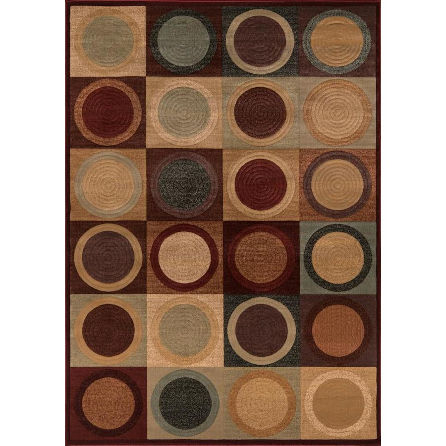 Momeni Stone Red Rectangular Indoor Woven Area Rug (Common: 8 x 10; Actual: 94-in W x 118-in L)