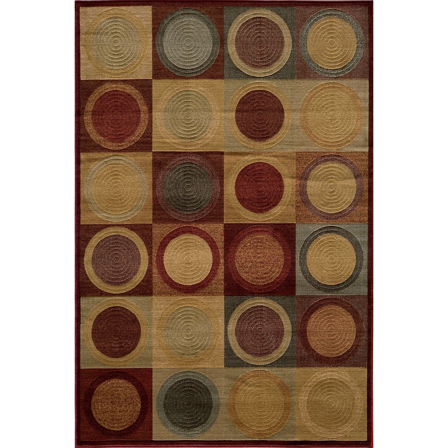 Momeni Stone Rectangular Red Geometric Woven Area Rug (Common: 10-ft x 13-ft; Actual: 9.25-ft x 12.5-ft)