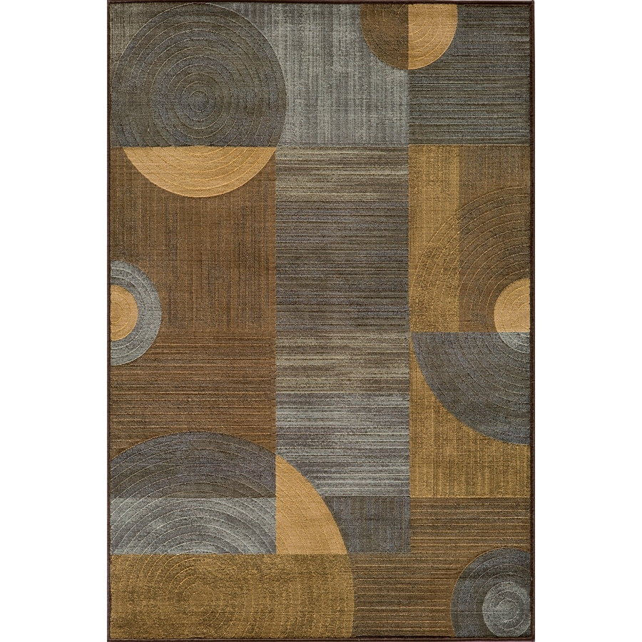 Momeni Essex Rectangular Brown Geometric Woven Area Rug (Common: 5-ft x 8-ft; Actual: 5.25-ft x 7.5-ft)