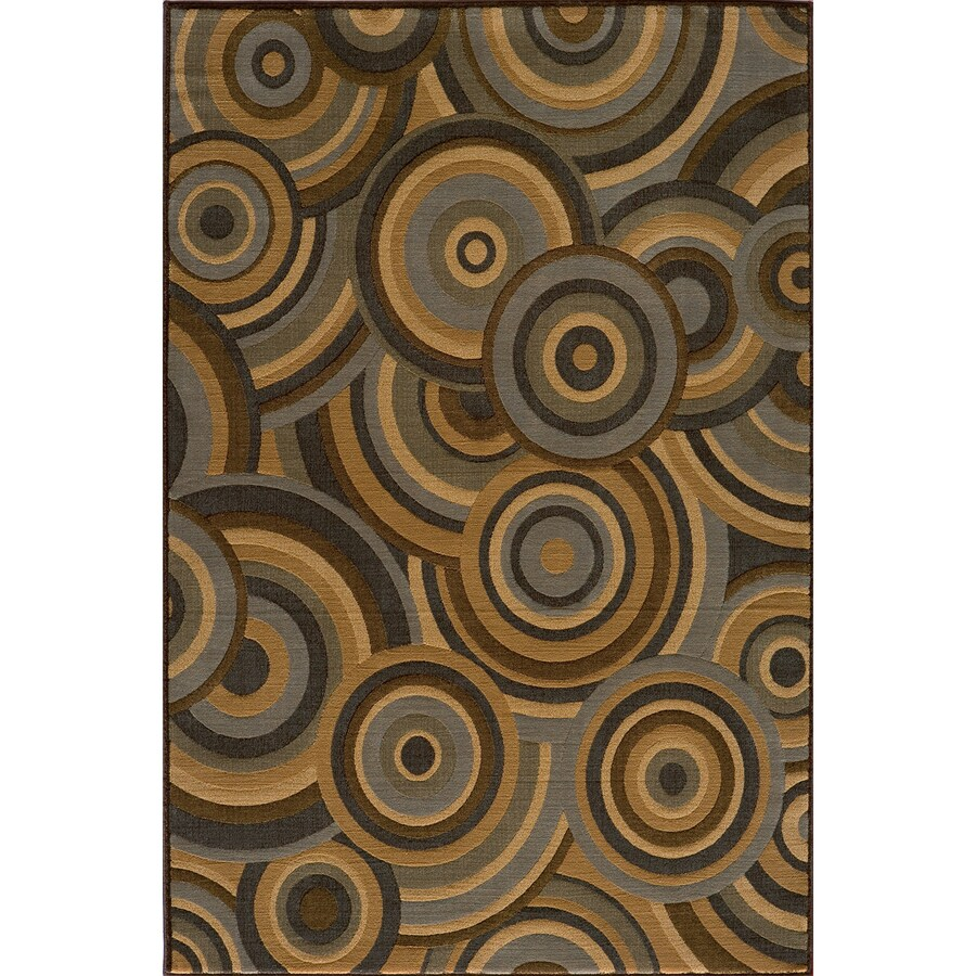 Momeni Chase Rectangular Brown Geometric Woven Area Rug (Common: 5-ft x 8-ft; Actual: 5.25-ft x 7.5-ft)