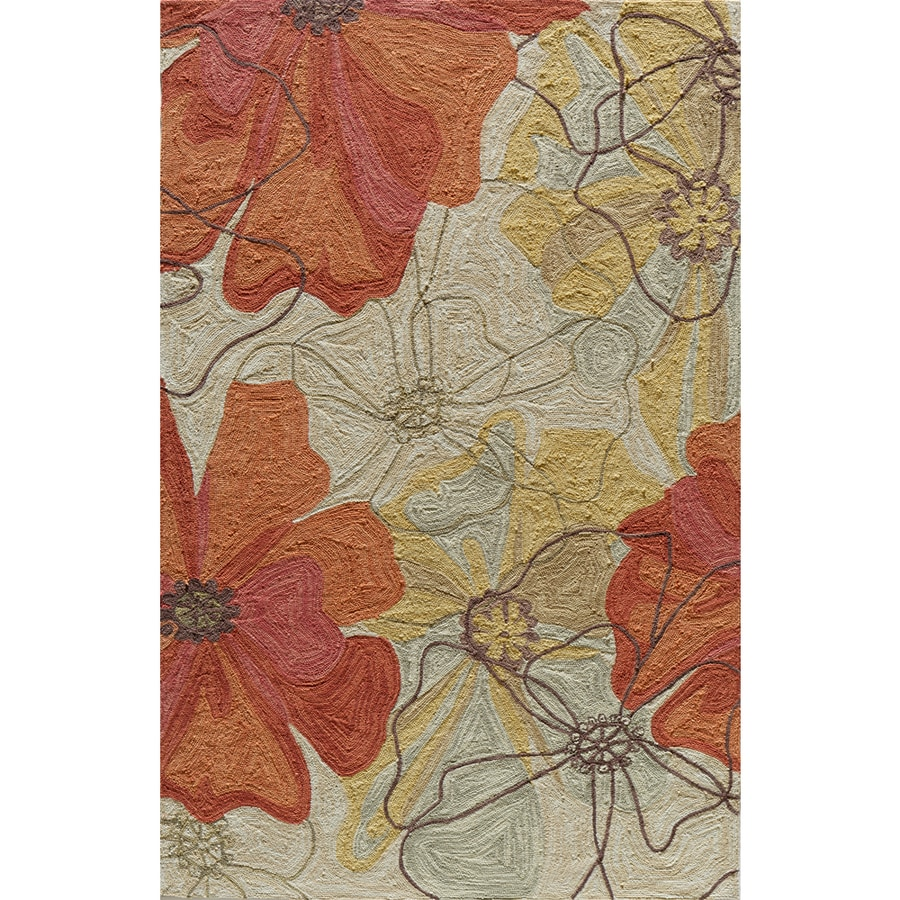Momeni Laurel Sand Rectangular Indoor Hand-Hooked Area Rug (Common: 8 x 10; Actual: 96-in W x 120-in L)